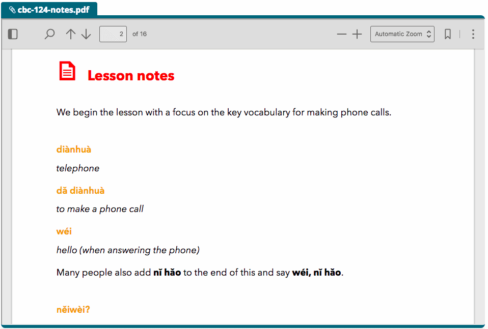 downloadable lesson notes