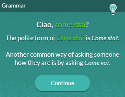 "Screenshot of a grammar tip explaining multiple ways to say, ""How are you?"" in English."