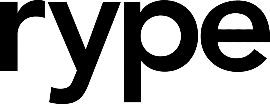 "This image shows the name ""Rype"" in bold black letters."